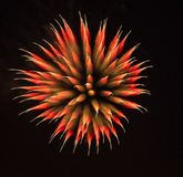 Exotic focus-poll images of fireworks, isolated for composing. Into your art royalty free stock photo