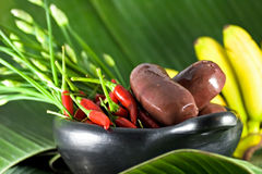 Exotic Food. Creole black pudding, food, afro-caraïbien Stock Image