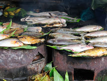 Exotic food in Iquitos in Amazonia Royalty Free Stock Photography