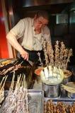 Exotic food skewers in Beijing Stock Photography