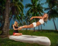 Exotic foot massage Stock Photo