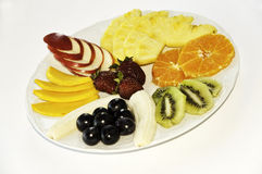 Exotic fresh fruits on plate Stock Photo