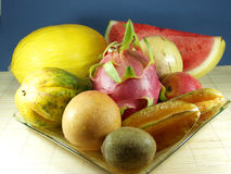 Exotic fruit. Tropical and exotic asian fruits Stock Photo