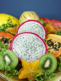 Exotic fruit. Tropical and exotic asian fruits Stock Photos