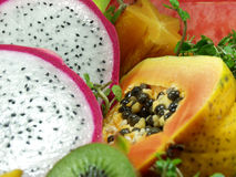 Exotic fruit. Tropical and exotic asian fruits Royalty Free Stock Photography