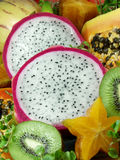Exotic fruit. Tropical and exotic asian fruits Royalty Free Stock Photo