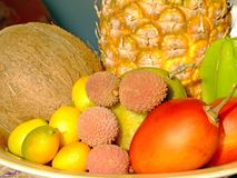 Exotic fruit. Mixed fresh exotic fruit composition Stock Photography