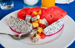 Exotic Fruit Breakfast Royalty Free Stock Photos