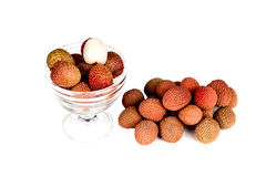 Exotic fruit lychee Stock Photo