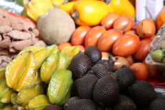 Exotic fruit. Market in Lima, Peru. Market in Lima, capital of Peru royalty free stock photography