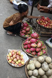 Exotic fruit market stall ,Vinh Long Royalty Free Stock Photo