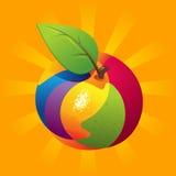 Exotic Fruit Mix. Exotic fruit, fruit mix on the orange background Stock Image