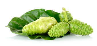 Exotic Fruit - Noni isolated on the white background Stock Photos