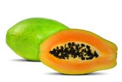 Exotic fruit papaya. Isolated on white stock image