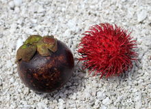 Exotic fruit. On the pebble Royalty Free Stock Image