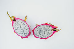 Exotic fruit pitaya or pitahaya, dragon fruit Hylocereus  Royalty Free Stock Photos