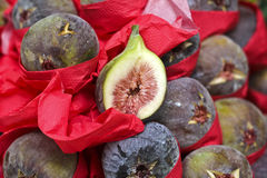 Exotic fruit purple figs Stock Images