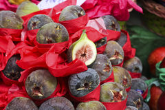 Exotic fruit purple figs Royalty Free Stock Image