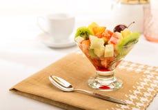 Exotic fruit salad Stock Photos