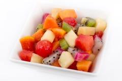 Exotic fruit salad. On white bowl Royalty Free Stock Photos