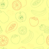 Exotic fruit  seamless pattern Stock Photography
