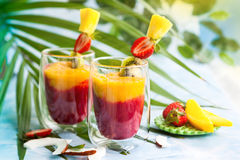 Exotic fruit smoothie Royalty Free Stock Photo