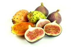 Exotic fruits. On white background stock photography