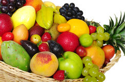 Exotic Fruits in Basket Royalty Free Stock Images