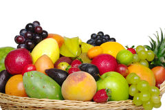 Exotic Fruits in a Basket from Close Stock Images