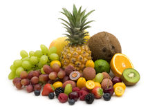 Exotic fruits and berries stock photos