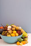 Exotic fruits in a bowl Stock Photos