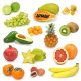 Exotic Fruits Collection Royalty Free Stock Images
