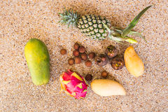 Exotic fruits. Concept of healthy food Royalty Free Stock Photography