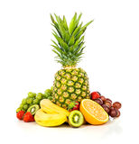 Exotic fruits isolated on white Royalty Free Stock Photography