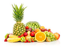 Exotic fruits isolated on white Royalty Free Stock Photos