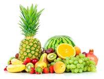 Exotic fruits isolated on white Royalty Free Stock Photography