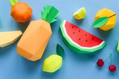 Exotic fruits made of paper Royalty Free Stock Photography
