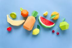 Exotic fruits made of paper Royalty Free Stock Image
