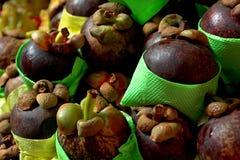 Exotic fruits Mangosteen Royalty Free Stock Image