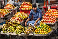 Exotic fruits in market Royalty Free Stock Images