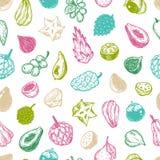 Exotic Fruits, Pattern Royalty Free Stock Photos