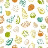 Exotic Fruits, Pattern Stock Photo