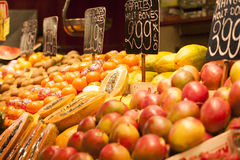 Exotic fruits for sale in the  market Royalty Free Stock Image