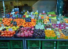 Exotic fruits for sale Naschmarkt Vienna Royalty Free Stock Photography