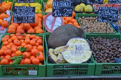 Exotic fruits for sale Naschmarkt Vienna Royalty Free Stock Image