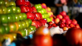 Exotic fruits for sale in the street Asian market. Stock Image