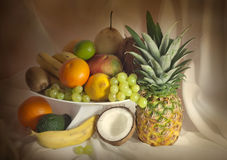 Exotic fruits still life Royalty Free Stock Photography