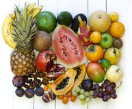 Exotic fruits variety still life Stock Image