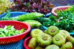 Exotic fruits and vegetables in Vietnam Stock Photos