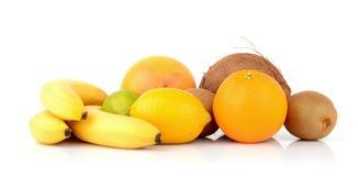 Exotic fruits. On white Stock Images